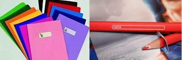 Etichette adesive per libri e quaderni