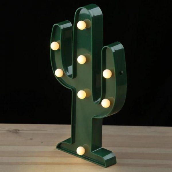 Decorazione con LED Cactus
