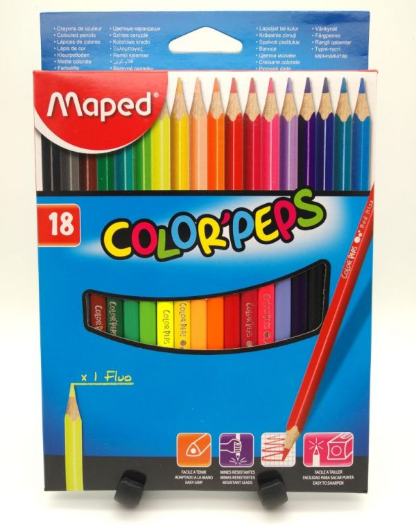 Matite colorate Maped scatola da 18