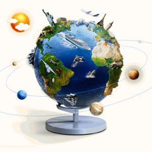 Mappamondo 3D AR GLOBE Exploriamo